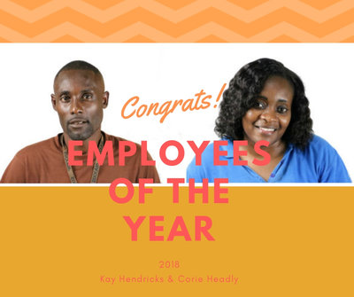 Congrats to our employees of the year for 2018